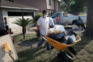 Removing debris from texas floods