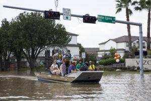 Houston Floods Air Boat
